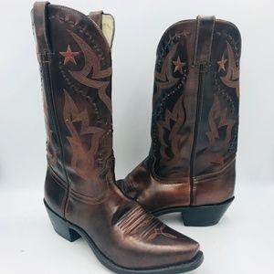 DURANGO RD5113 Bronze Leather Cowboy Boots Sz 9.5